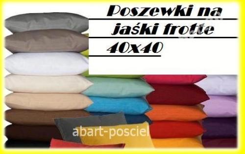 Poszewki Na Jaśki 40x40 Frotte Abart Posciel